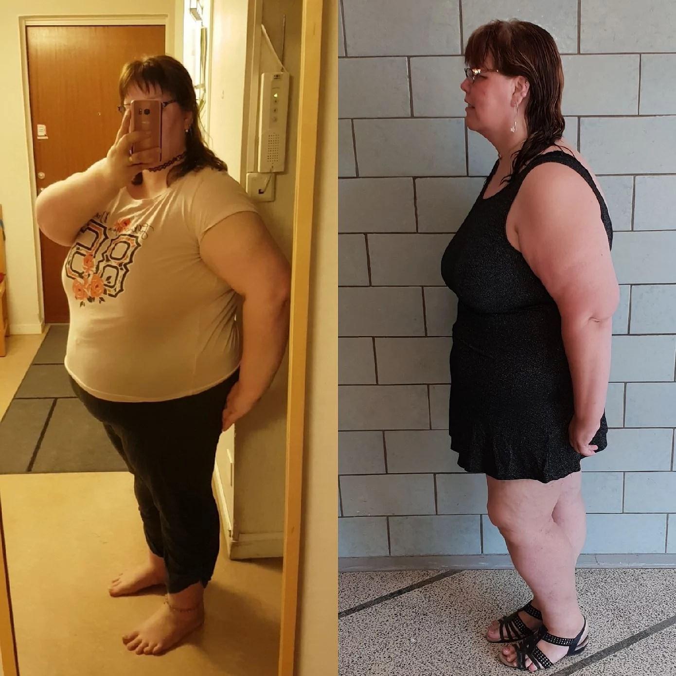 Före och efter -31 kg! ;)