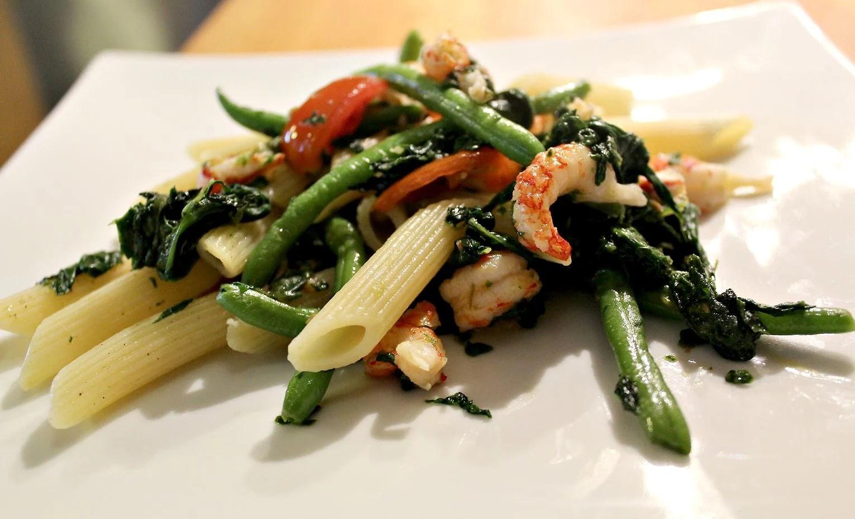 Kvällens middag - Pasta med kräftor (Recept)