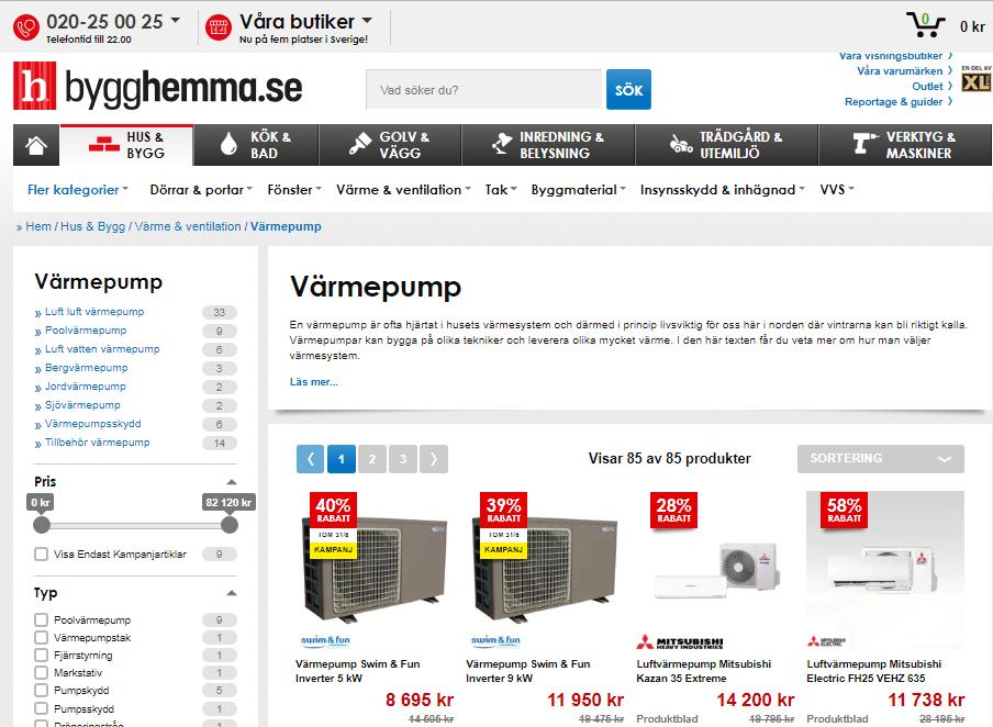 Köp din värmepump hos bygghemma.se