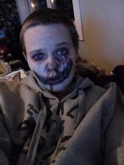 Halloween Sminkning Joker.Spontan Halloween Sminkning Tankarochmelanie