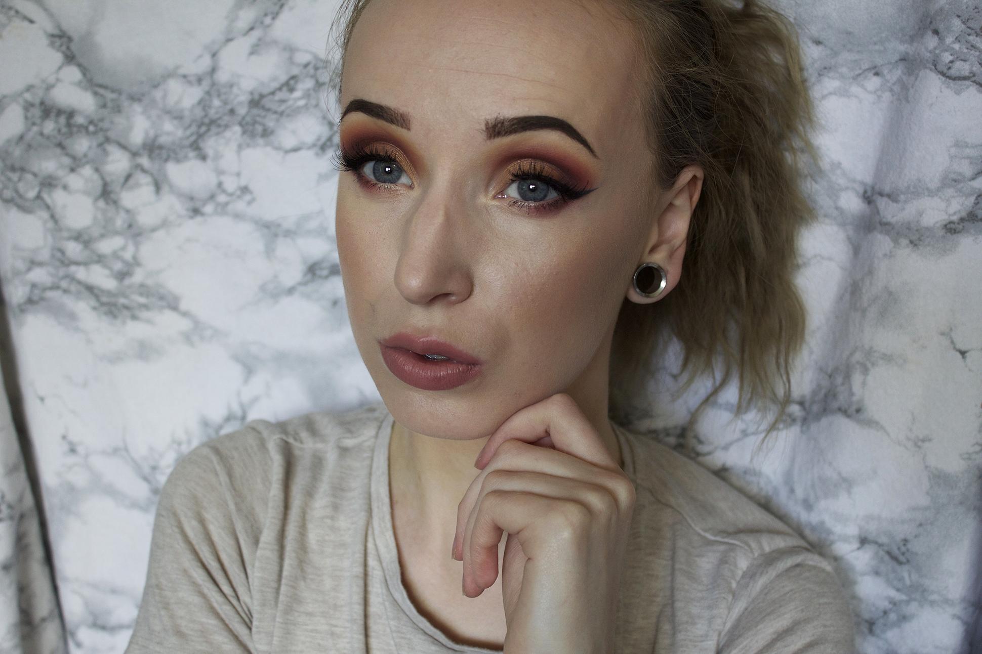 Makeup look: Copper
