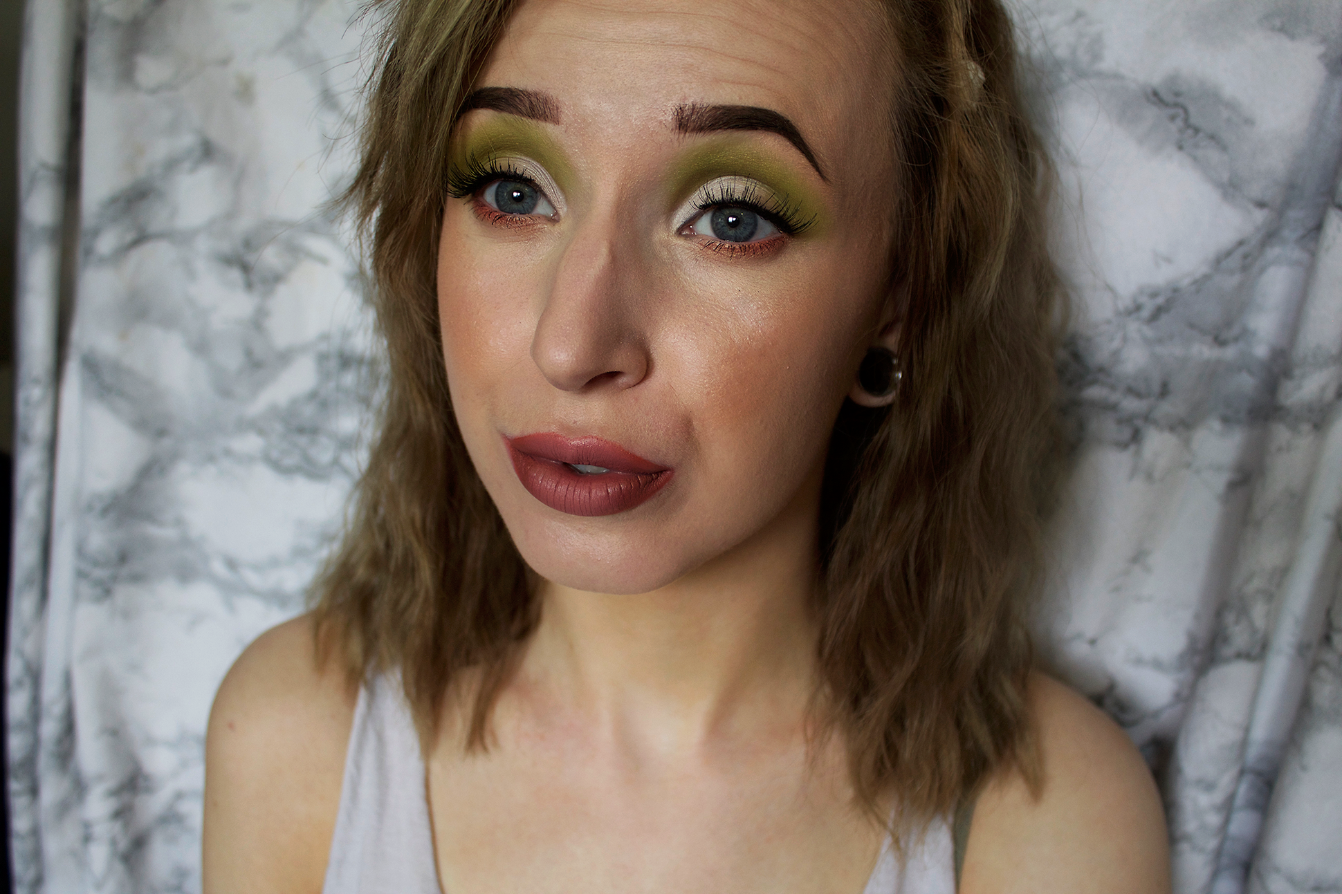 Makeup look: Green