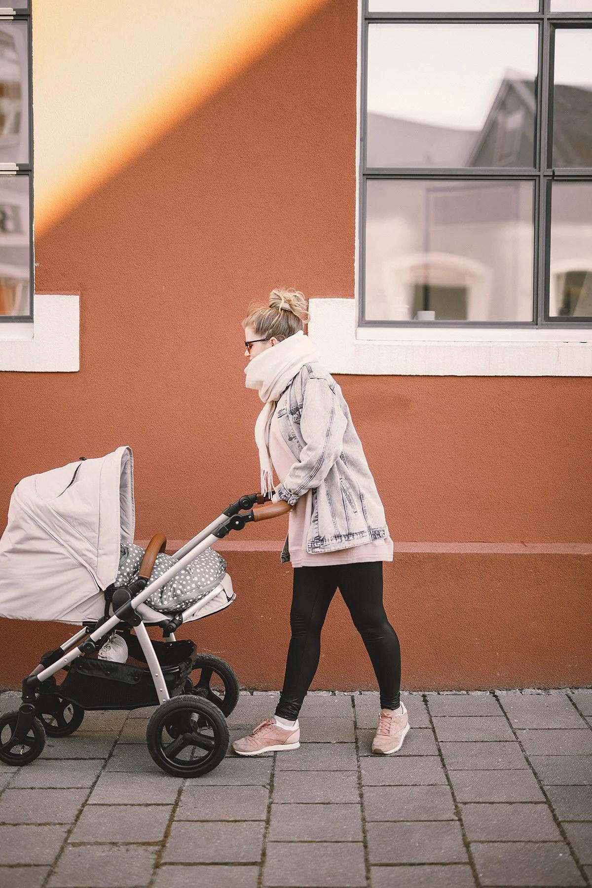 baby strolling