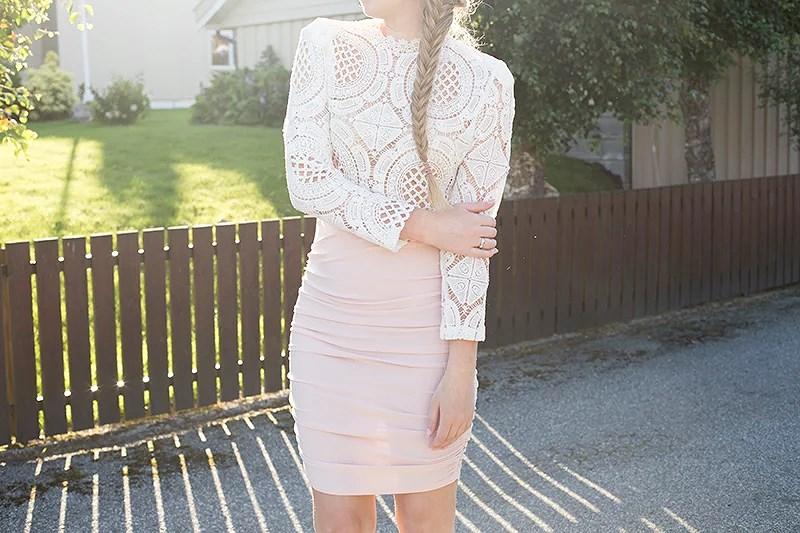 krist.in style antrekk skjørt nelly topp romwe blonder
