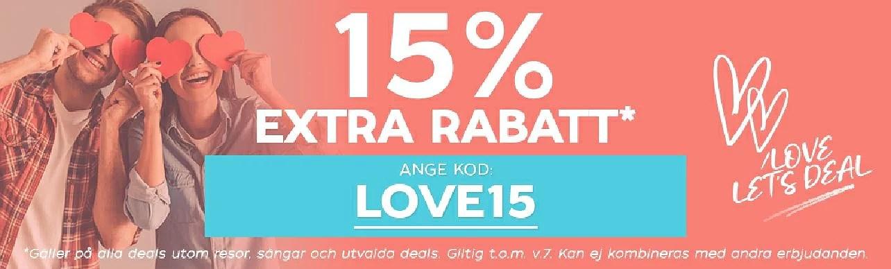 Let's Deal 15% rabatt