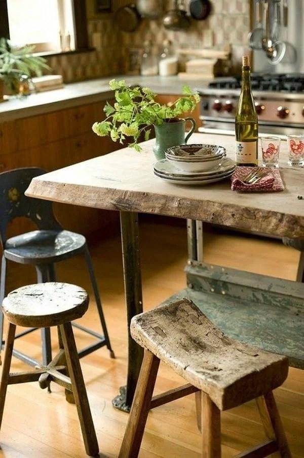 Decoración: mesas de madera