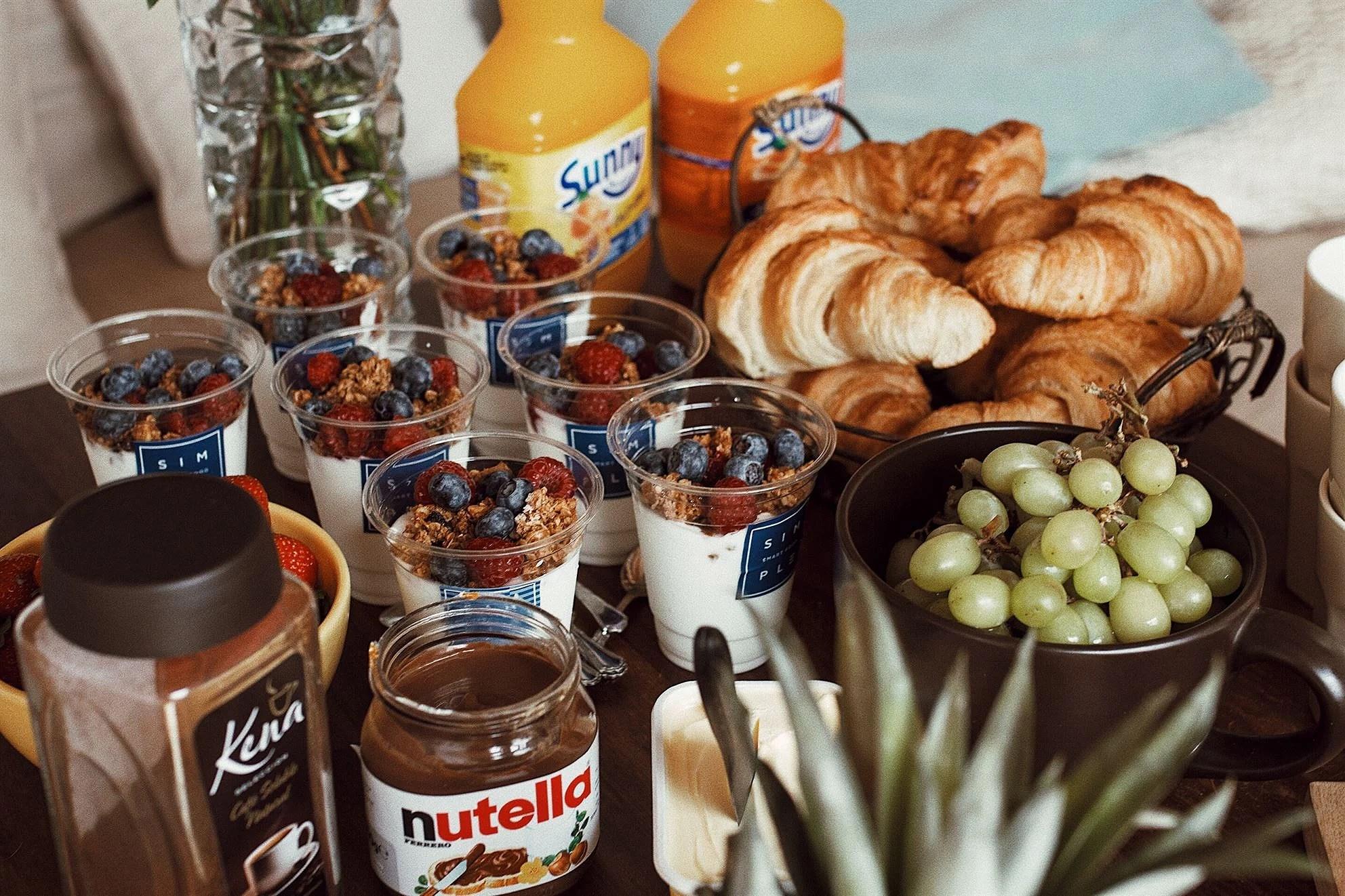 first breakfast in palma