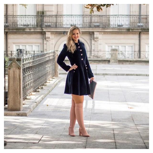Velvet navy dress