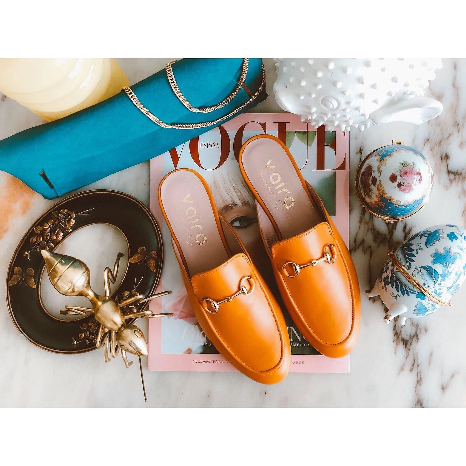 Monday with orange shoes