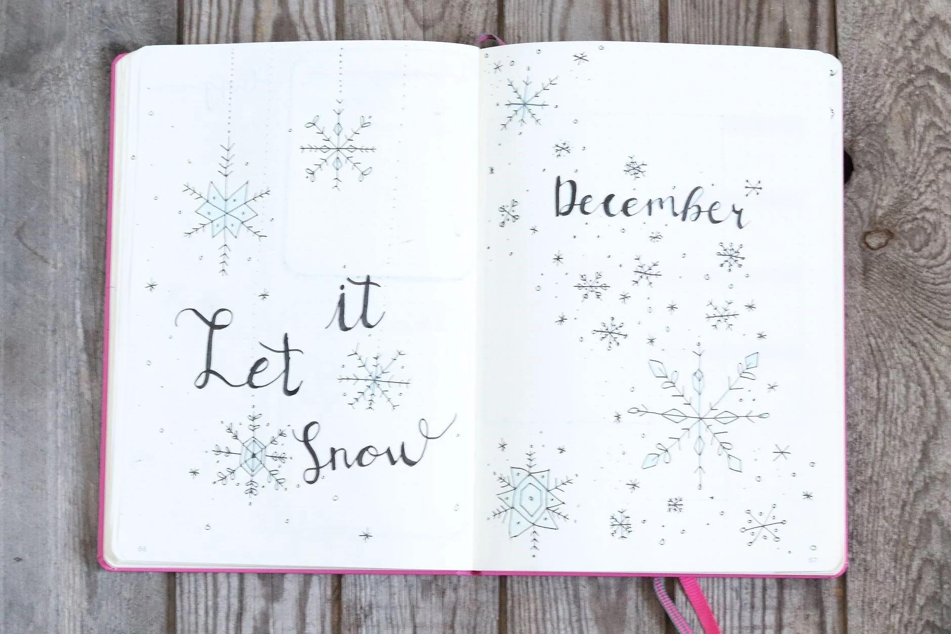 Bullet Journal setup December