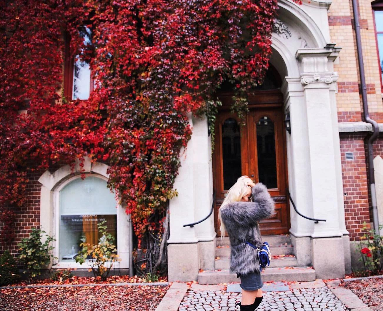 Friday feeling, overknees and red leaves