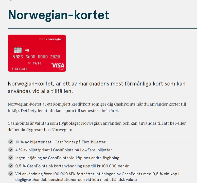 Vi blir kvar med våra Norwegian kort ett tag till