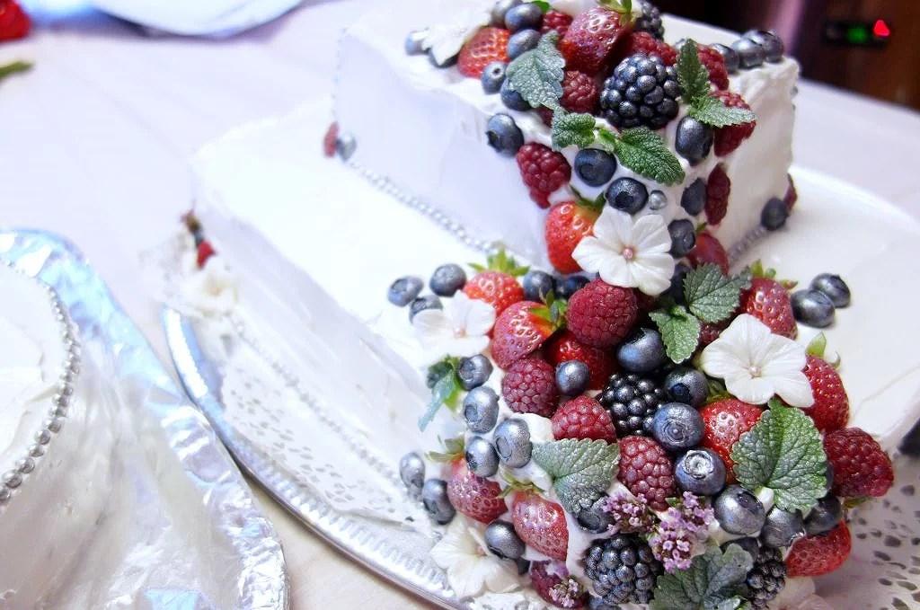 Bröllopstårtan, äntligen!