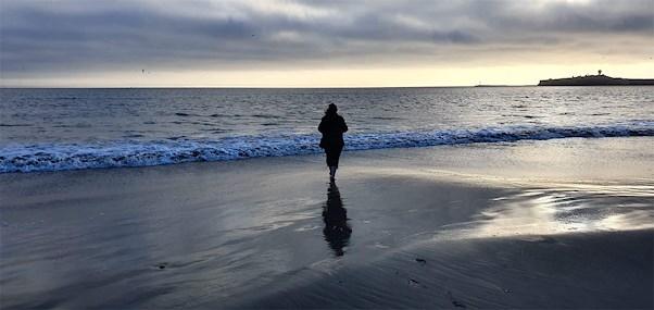 Jeg sto der såg utover stillehavet, med et hjerte av følelser