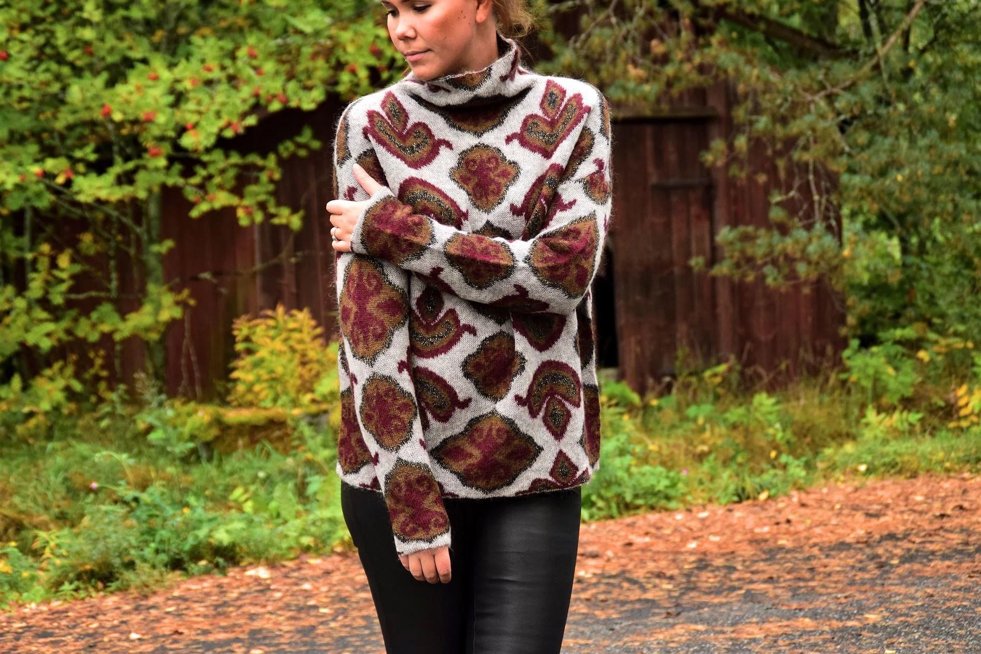 Hösten är här = stickade mysiga tröjor