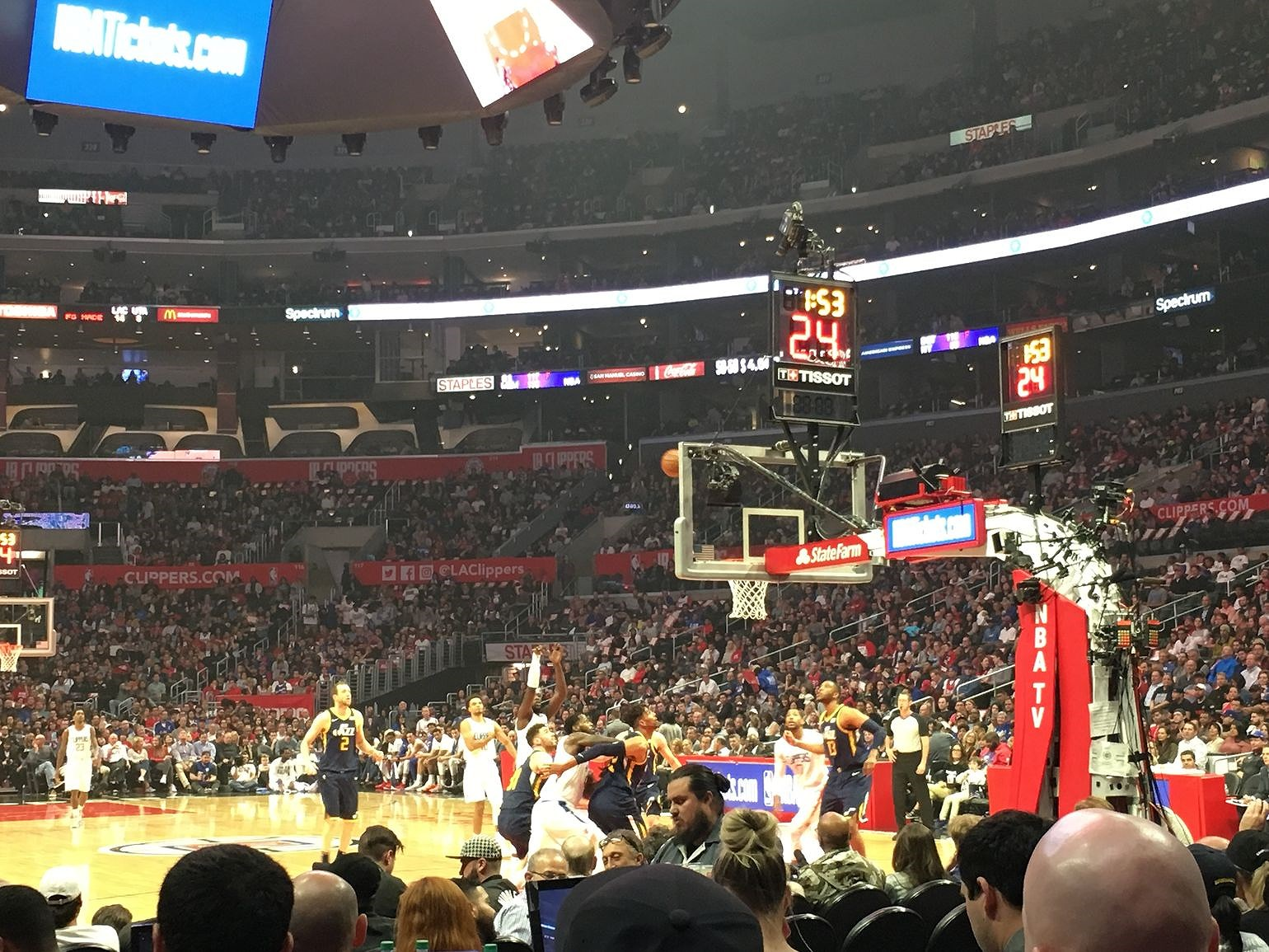 Floor seats at LA Clippers