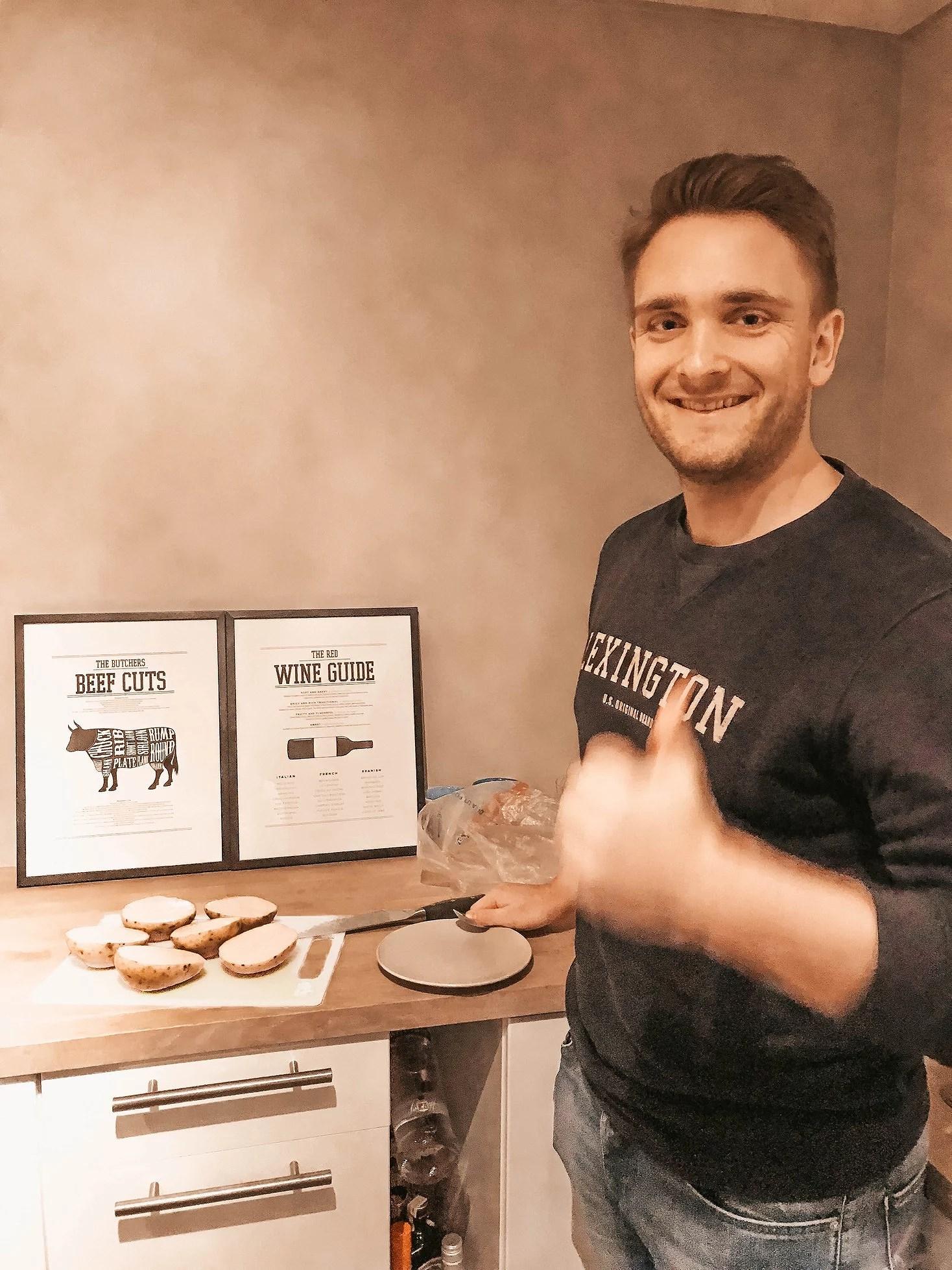 Potato burger & brownies