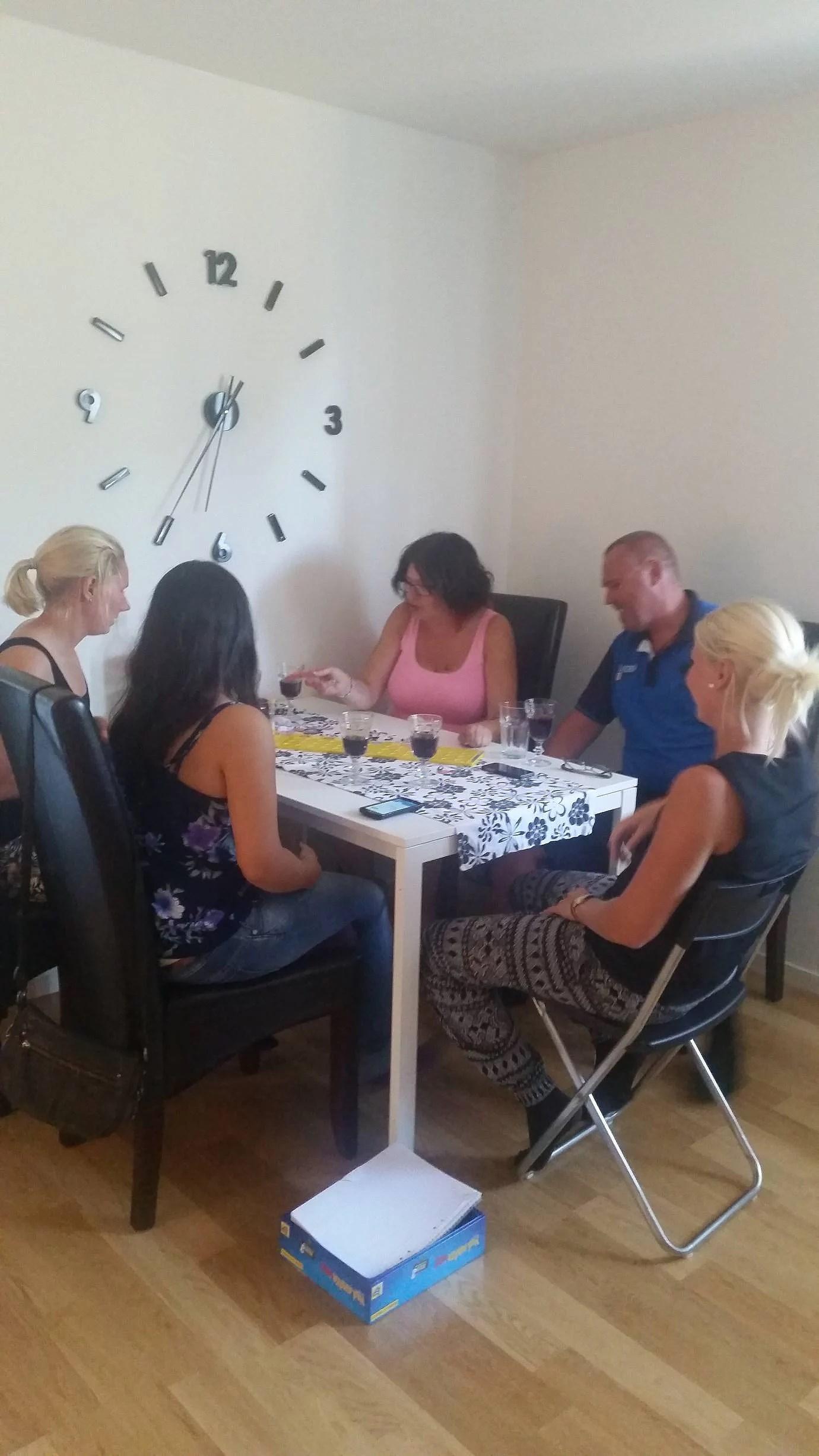 Kollegorna på middag