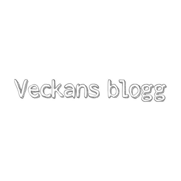 Veckans blogg avslutat