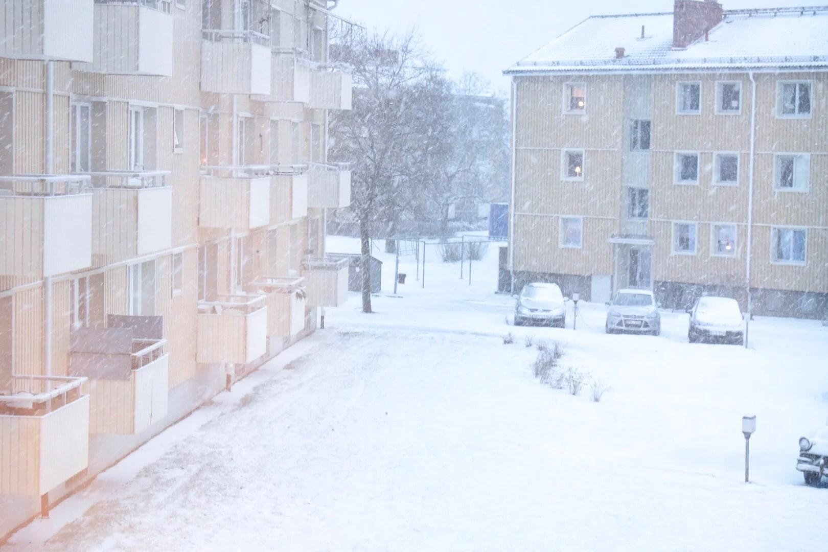 Snö, snö, snö och utmattning