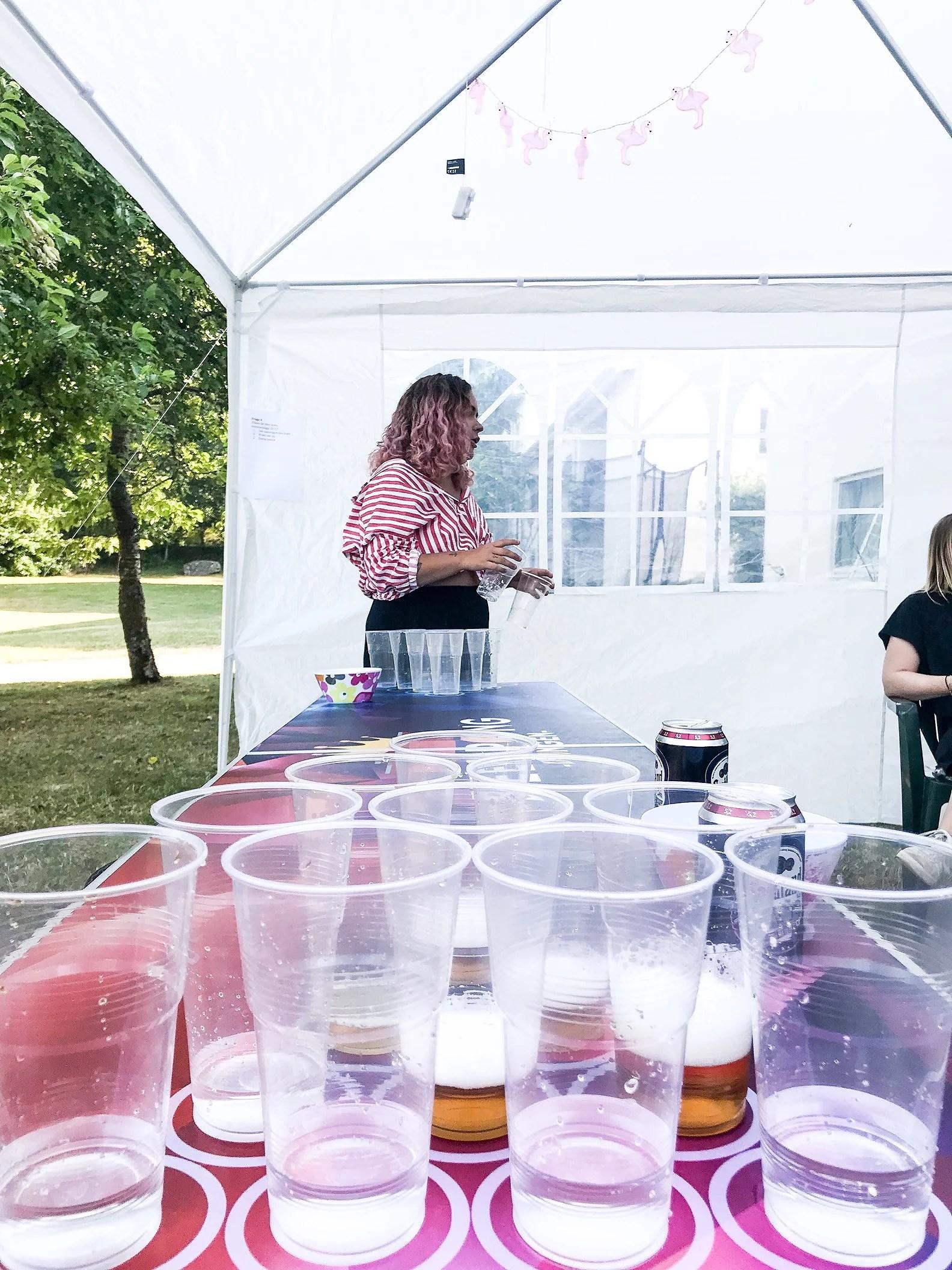 Den årliga beerpongtävlingen