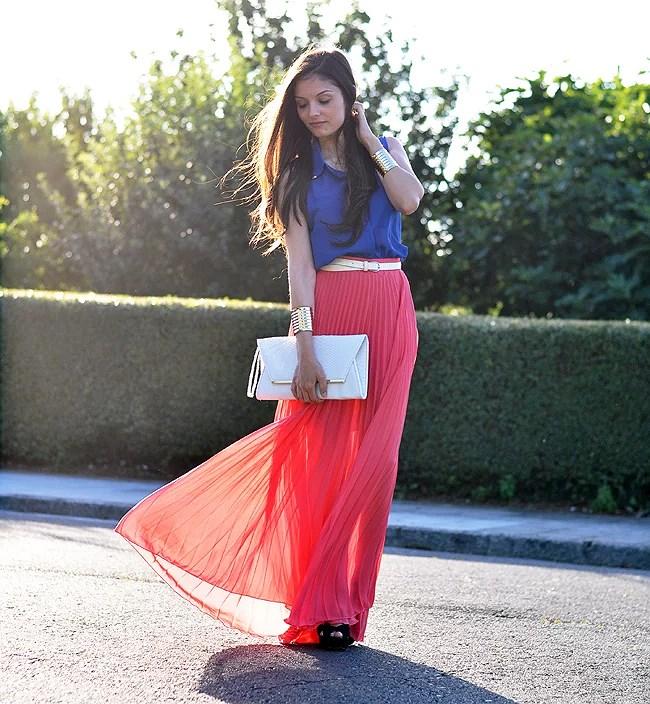 Coral Long Skirt...