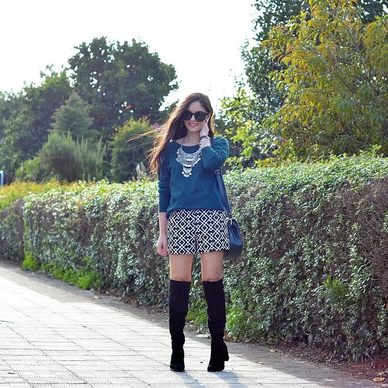 zara_ootd_shorts_green_high_boots_como_combinar_botas_04