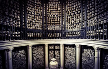 Ossario di San Martino torre Ossuary Italy lake garda skeletons skull bones morbid urban explorations odd vanlife day trip onlylifeweknow