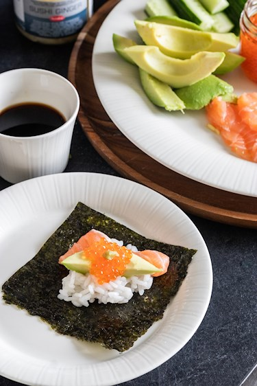 helppo temaki sushi resepti
