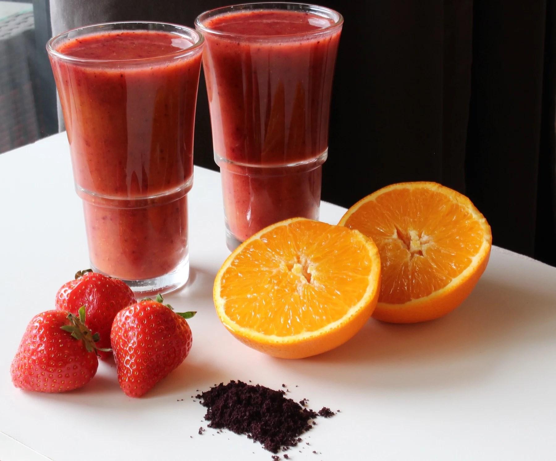 Vitamin Boost Juice: Orange+Strawberry+Acai