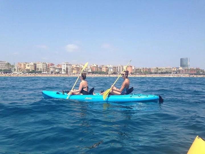 Kayaks en Barcelona