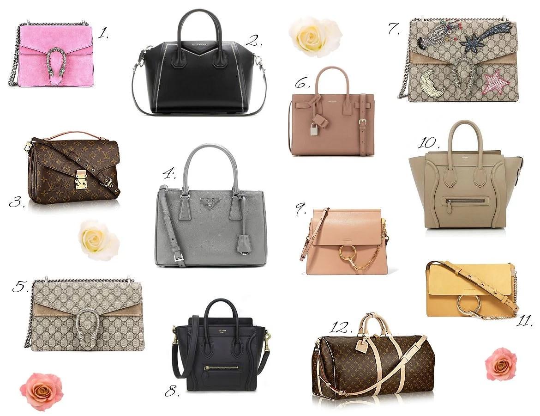 Väskor på span