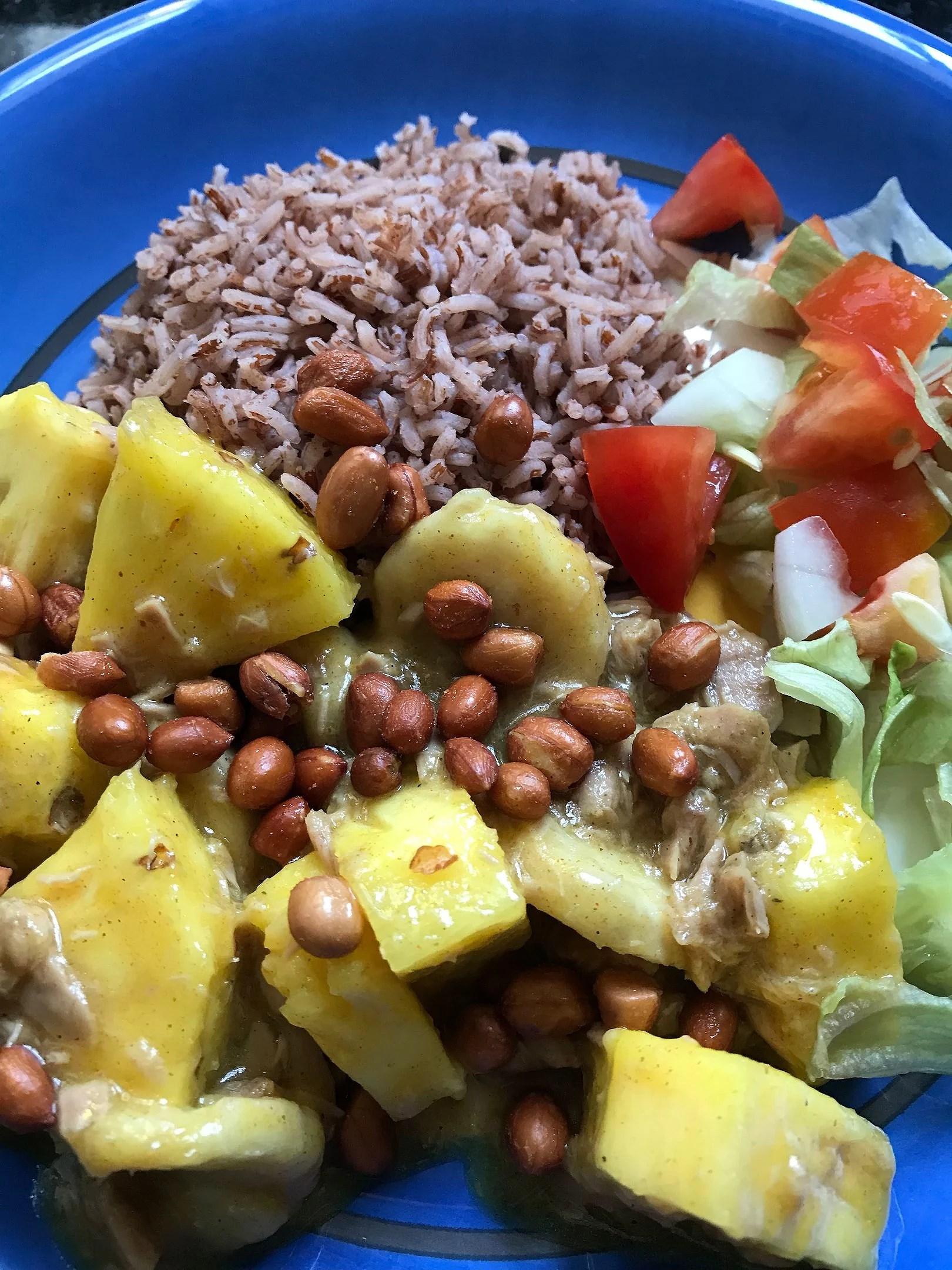Curryflavoured tunastew