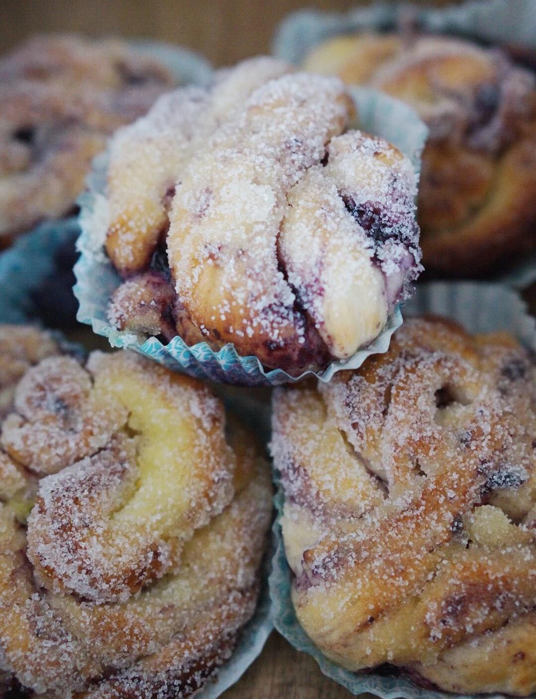 Sockerdoppade Blåbärs och marsansnurror