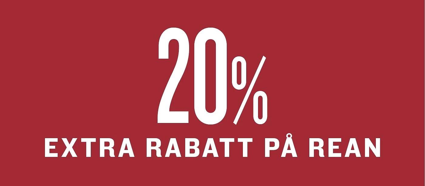 20% EXTRA PÅ REAPRISET!