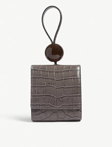 by far ball croc leather tote