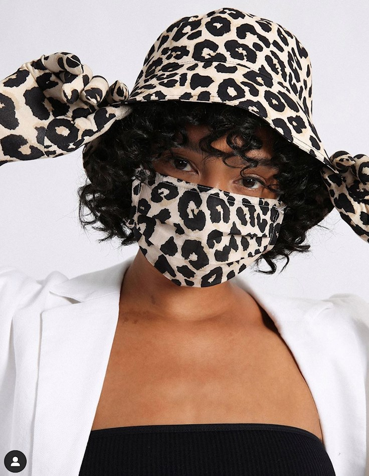 sanctuary face mask, animal print, PPe