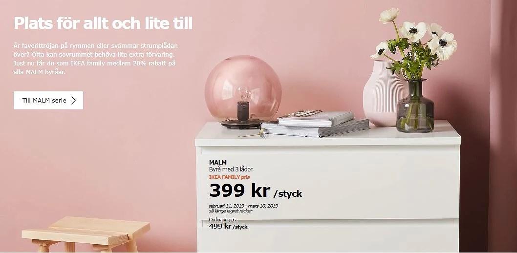 IKEAs Malm byrårer billigare