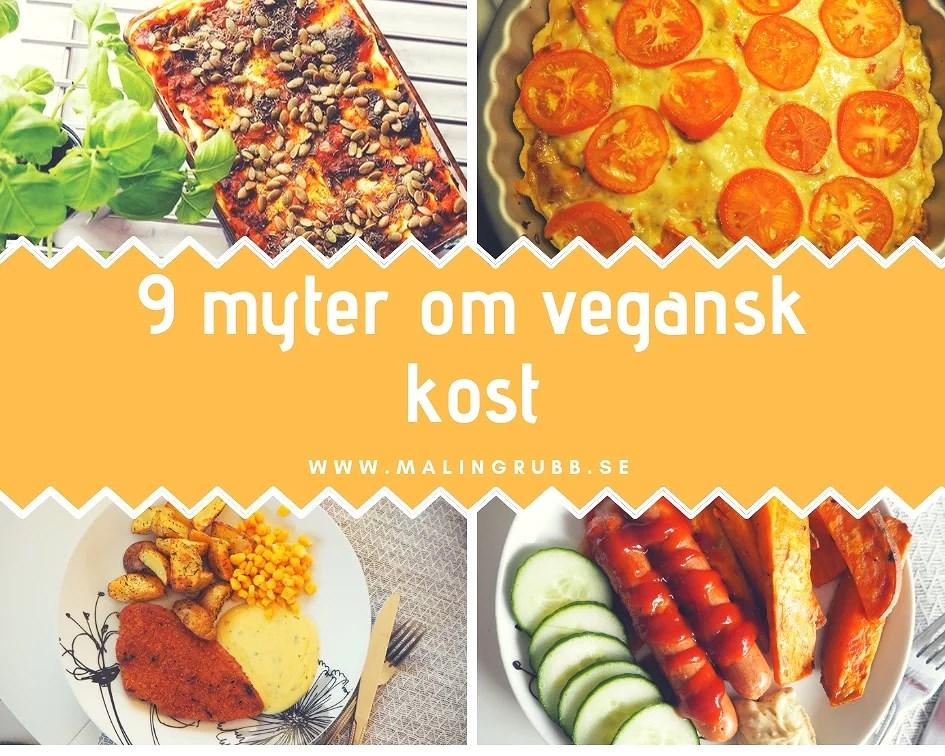 9 myter om vegansk mat