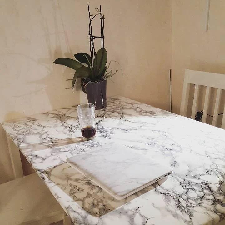 Äntligen är köks bordet fixat