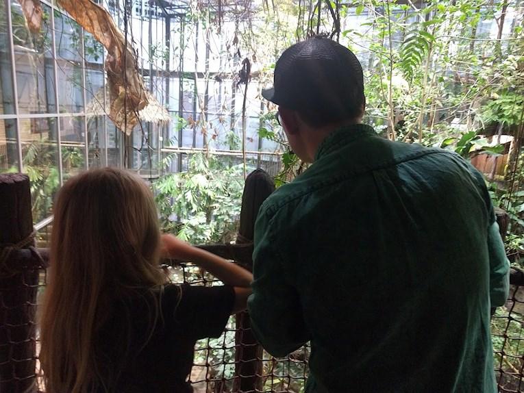Universeum Göteborg hållbar intressant och rolig semester hemester för barn och vuxna spaning efter djur i djungeln.