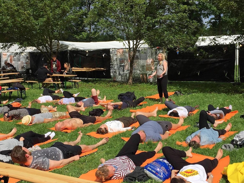 Yoga at Roskilde Festival