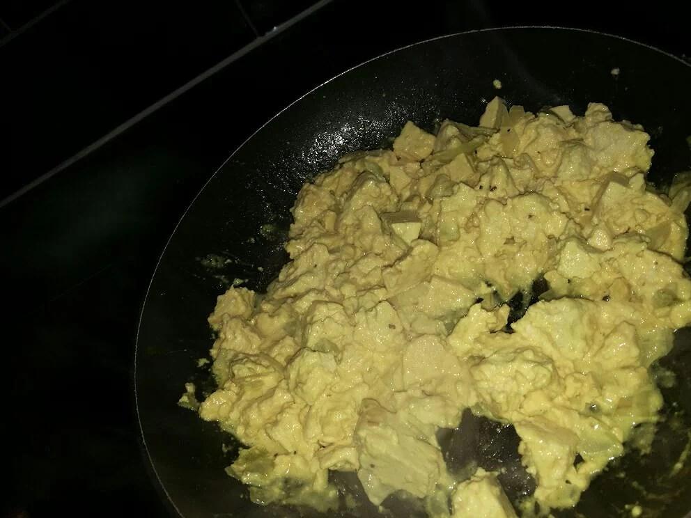 Scrambled tofu !