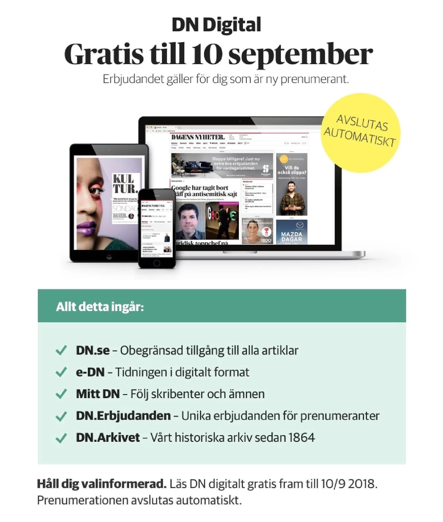 Läs DN digital gratis