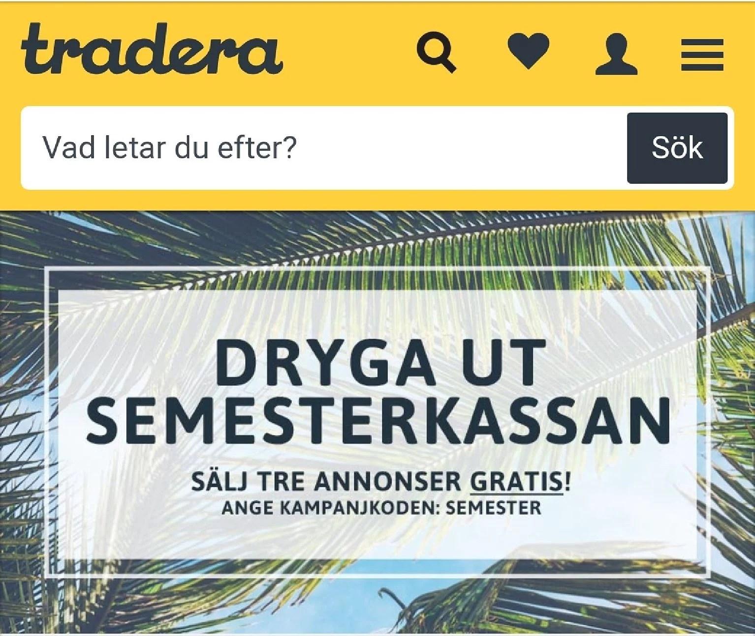 Tradera 3 annonser gratis