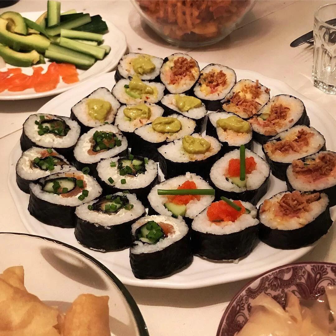 Effektiv dag och middag med goda vänner