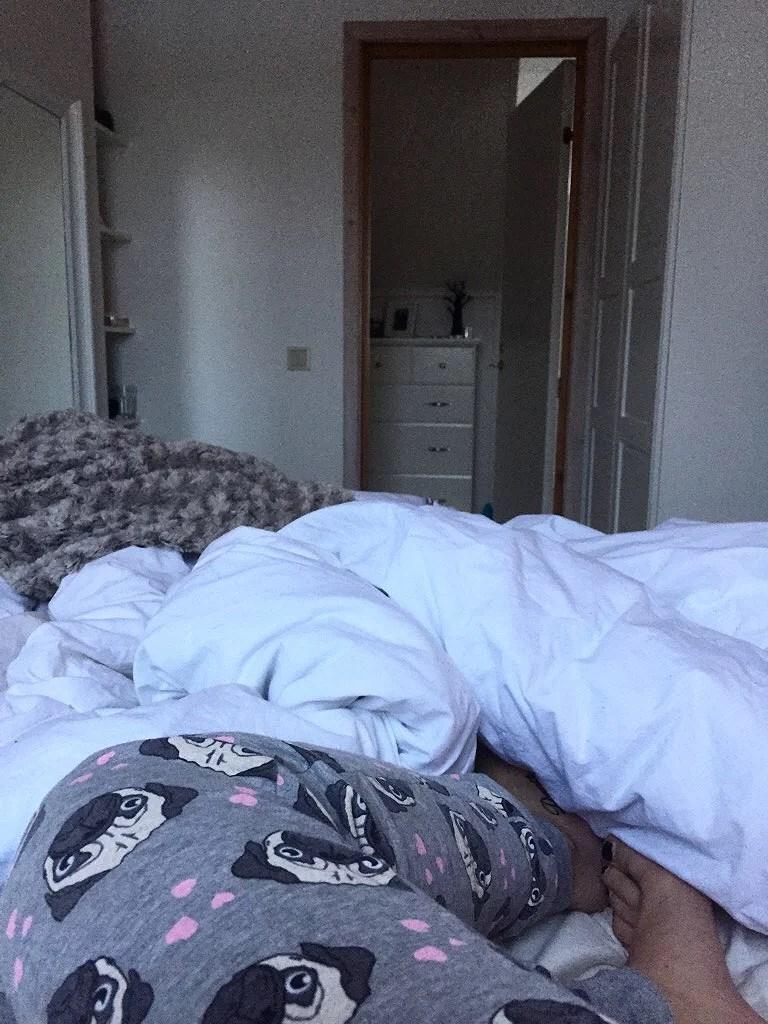 Morgonmys i sängen