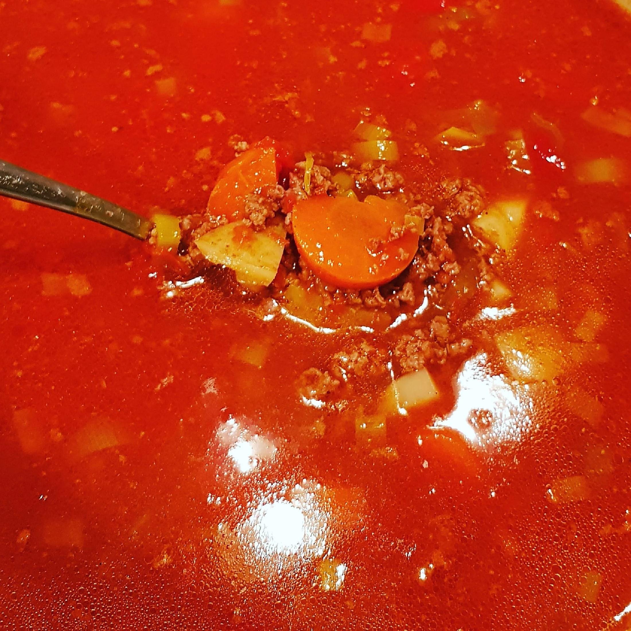 Köttfärssoppa.