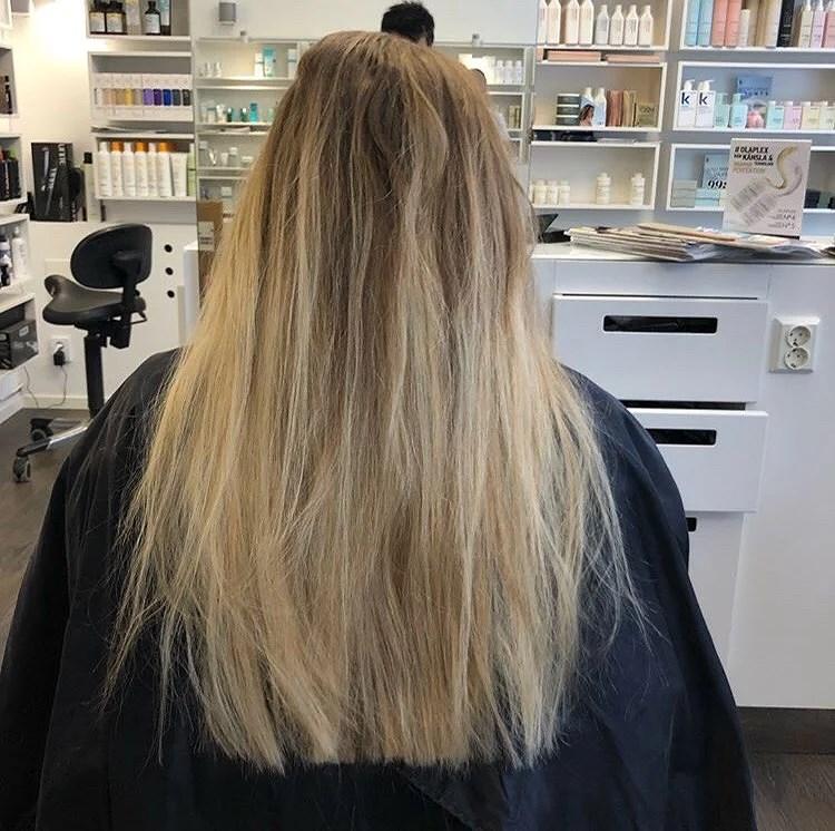 Mitt hår före och efter