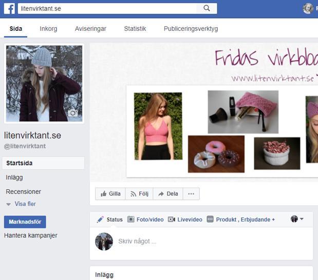 Nu finns Liten virktant på Facebook!